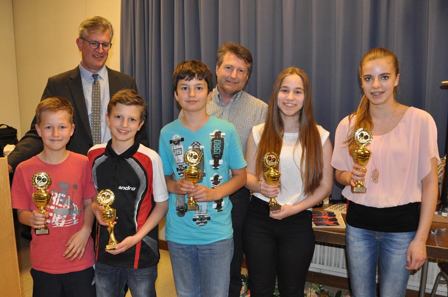 Ehrung Pokalsieger 2016 - Jungen U12 und Mädchen U15